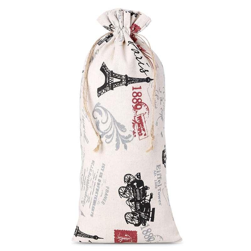 1 uds. Bolsa de lino con la impresión 16 x 37 cm - natural / París