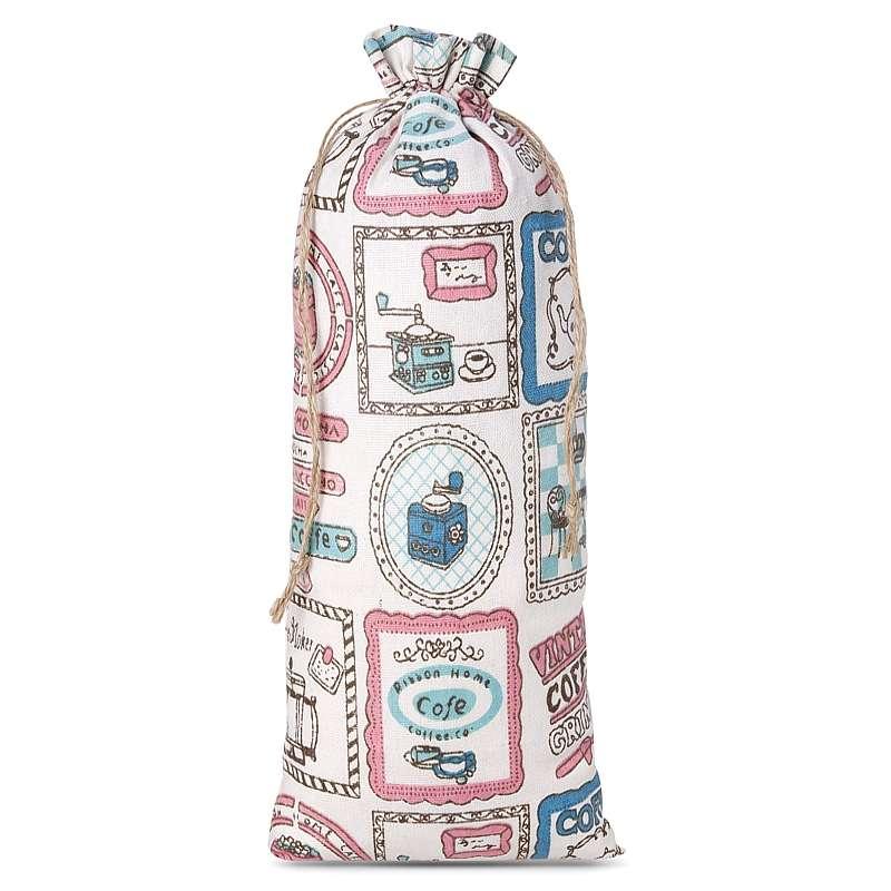 1 uds. Bolsa de lino con la impresión 16 x 37 cm - natural / café