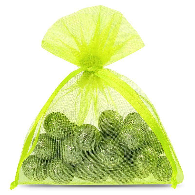 25 uds. Bolsas de organza 8 x 10 cm - verde claro