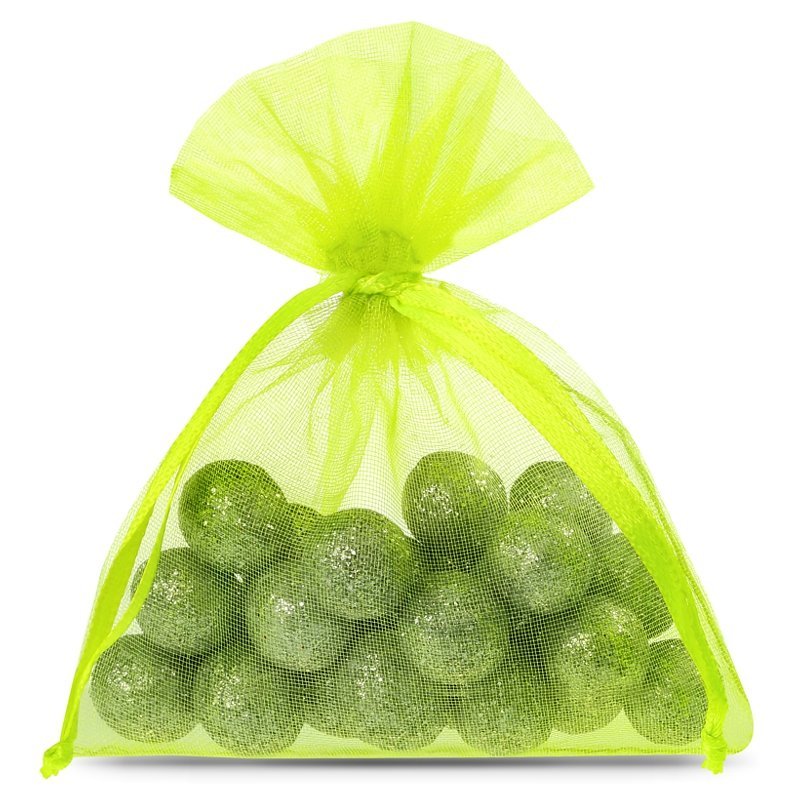 25 uds. Bolsas de organza 9 x 12 cm - verde claro