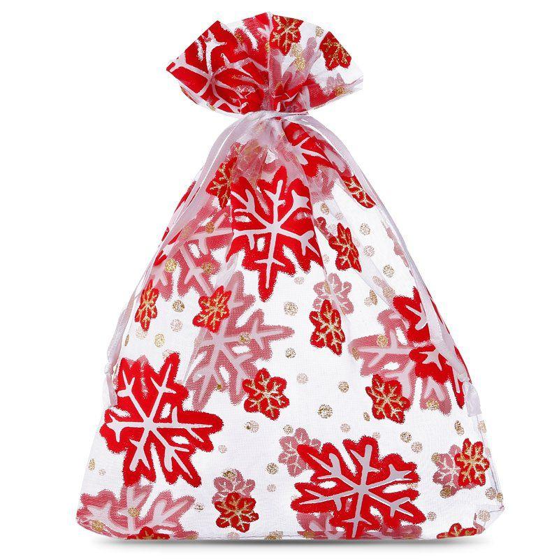 10 uds. Bolsas de organza 15 x 20 cm - Navidad / 1