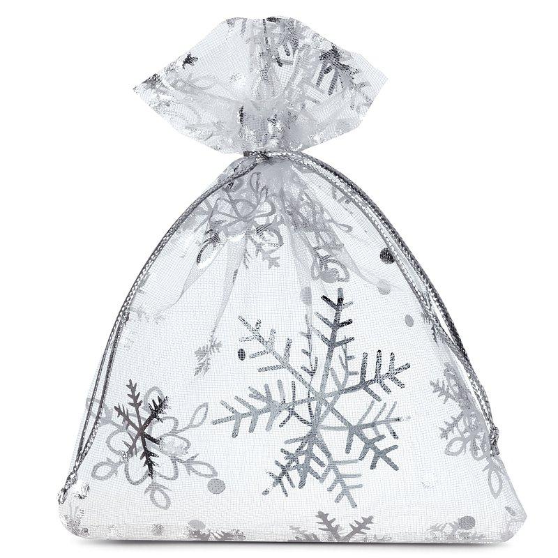 10 uds. Bolsas de organza 9 x 12 cm - Navidad / 2 Materiales
