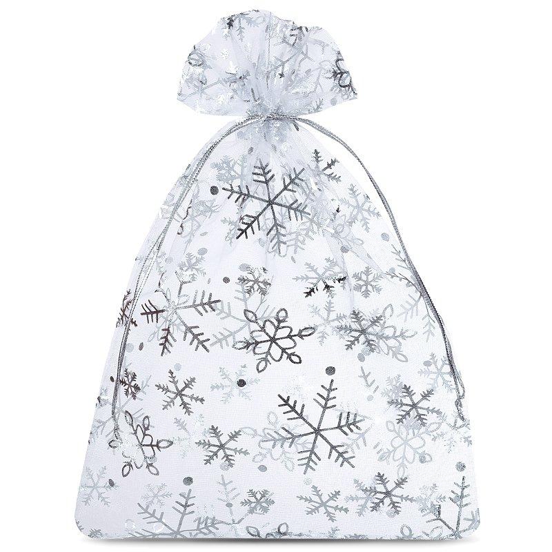 10 uds. Bolsas de organza 12 x 15 cm - Navidad / 2 Decorativo Bolsas de organza