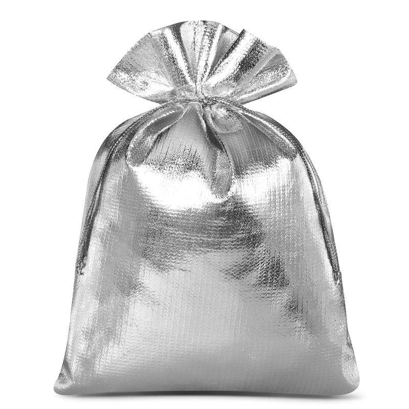 10 uds. Bolsas metálico 12 x 15 cm - gris plata