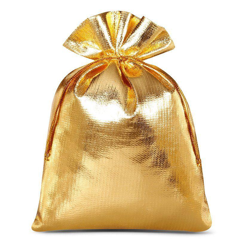 10 uds. Bolsas metálico 12 x 15 cm - dorado