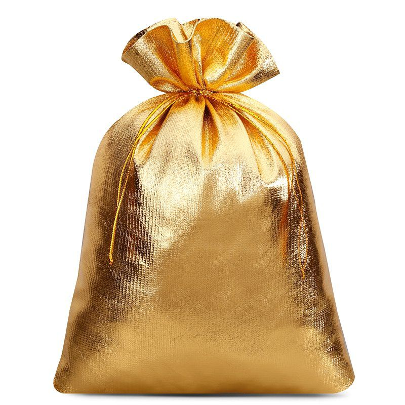 5 uds. Bolsas metálico 22 x 30 cm - dorado