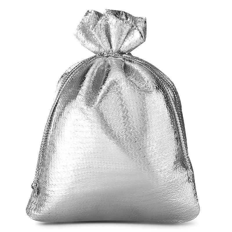 10 uds. Bolsas metálico 10 x 13 cm - gris plata