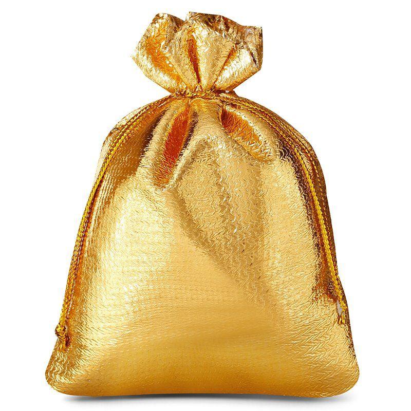 10 uds. Bolsas metálico 10 x 13 cm - dorado