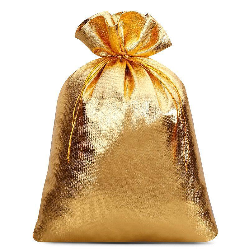 10 uds. Bolsas metálico 18 x 24 cm - dorado