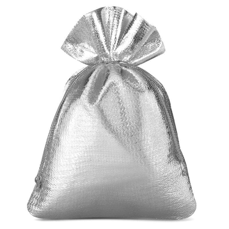 10 uds. Bolsas metálico 8 x 10 cm - gris plata