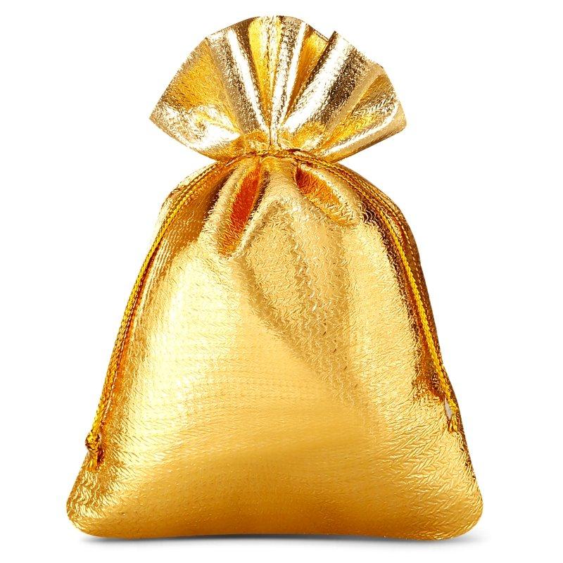 10 uds. Bolsas metálico 8 x 10 cm - dorado