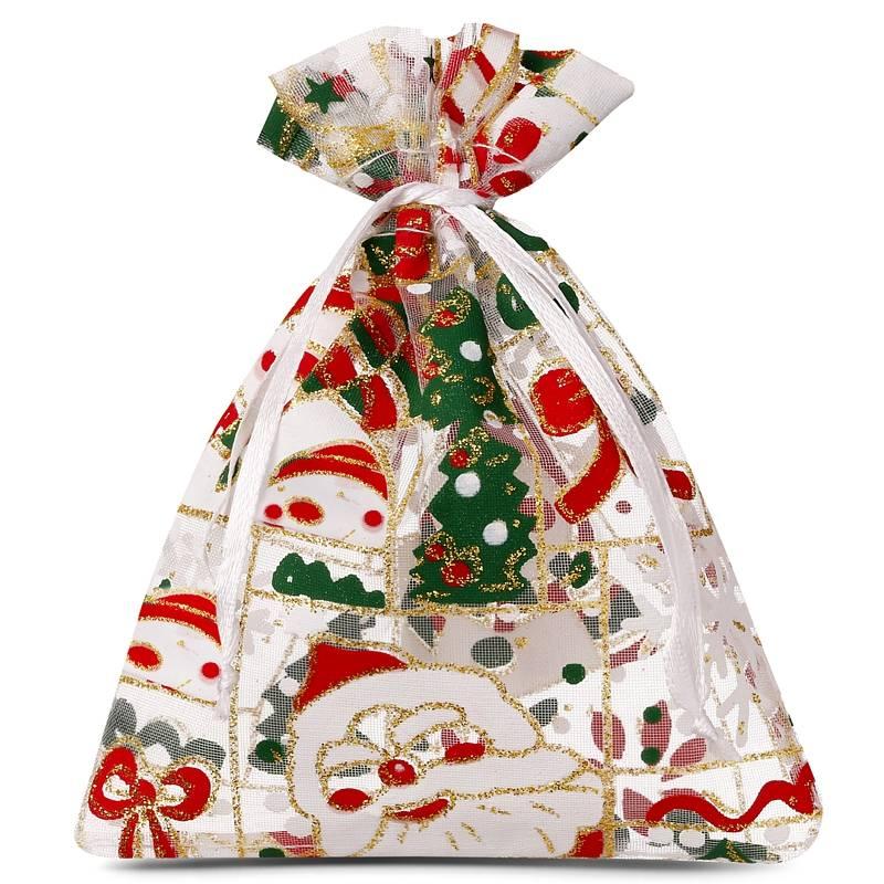 25 uds. Bolsas de organza 10 x 13 cm - Navidad / 5 Materiales