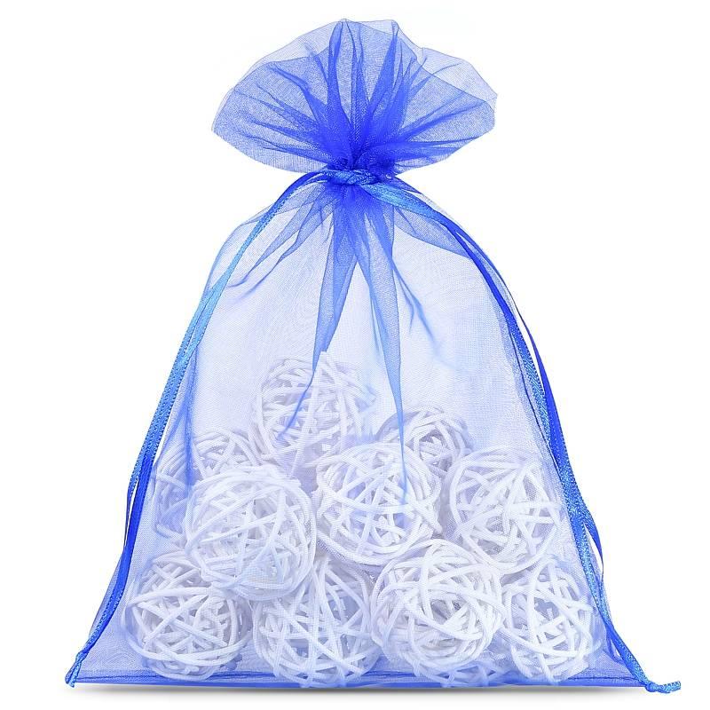 10 uds. Bolsas de organza 18 x 24 cm - azul Decorativo Bolsas de organza