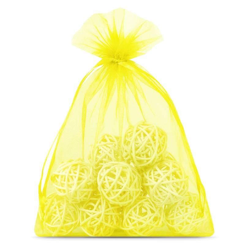 10 uds. Bolsas de organza 18 x 24 cm - amarillo