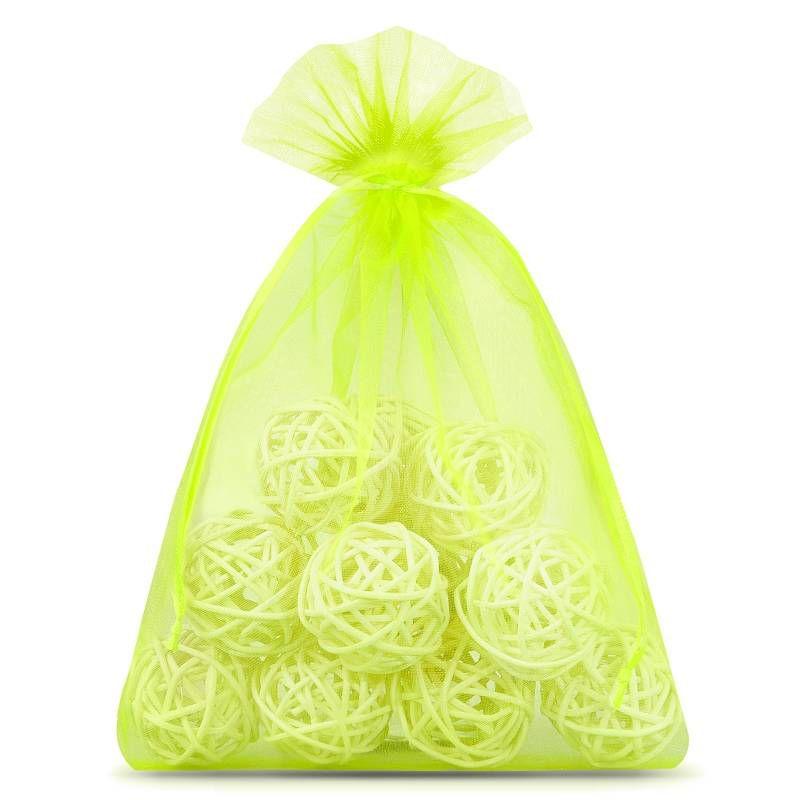 10 uds. Bolsas de organza 18 x 24 cm - verde claro