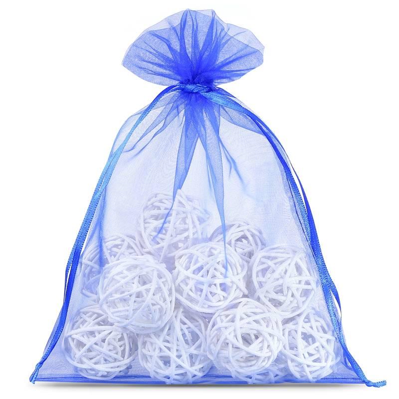 10 uds. Bolsas de organza 22 x 30 cm - azul Decorativo Bolsas de organza