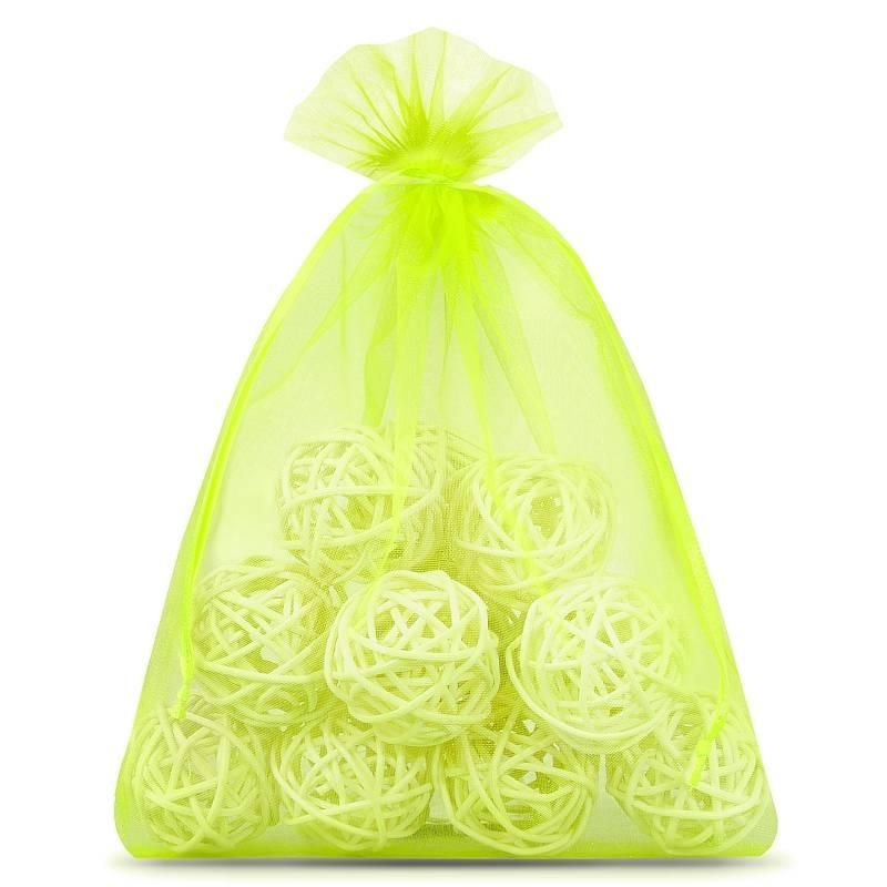 10 uds. Bolsas de organza 22 x 30 cm - verde claro
