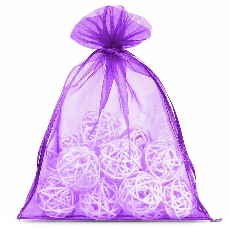 10 uds. Bolsas de organza 22 x 30 cm - violeta oscuro