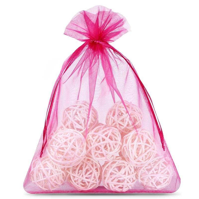 5 uds Bolsas de organza 26 x 35 cm - rosa oscuro