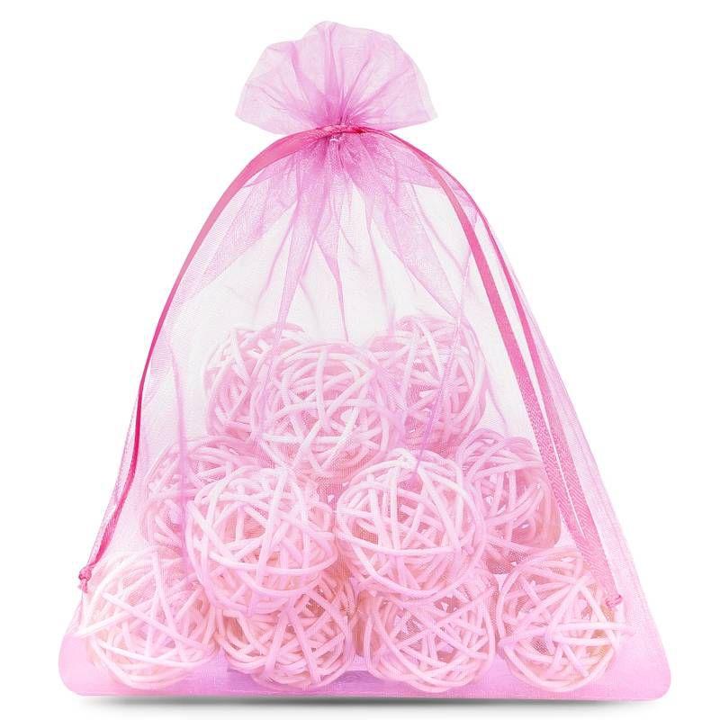 5 uds. Bolsas de organza 40 x 55 cm - rosa