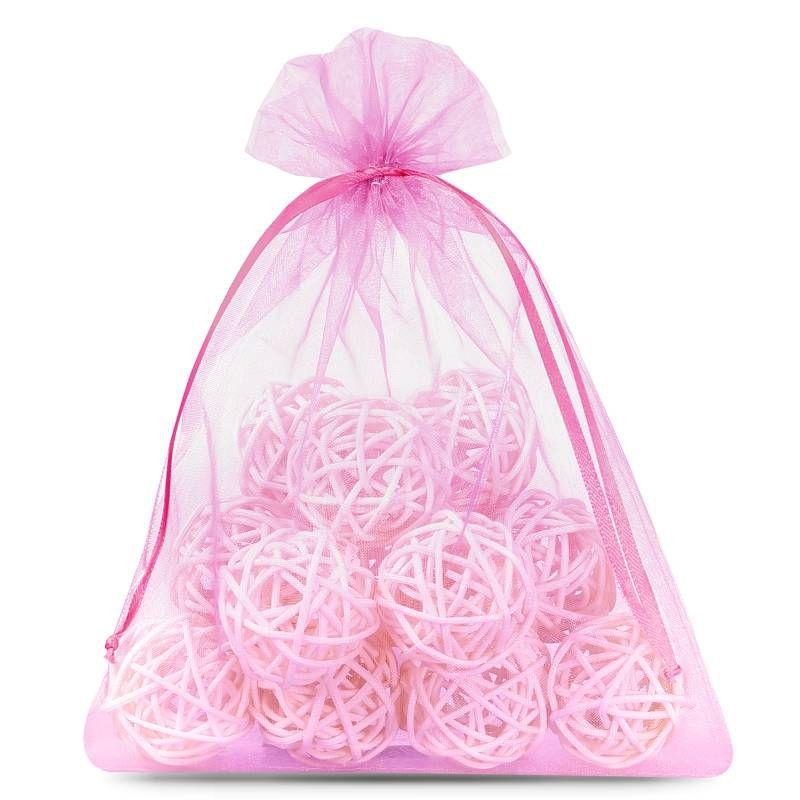 10 uds. Bolsas de organza 22 x 30 cm - rosa