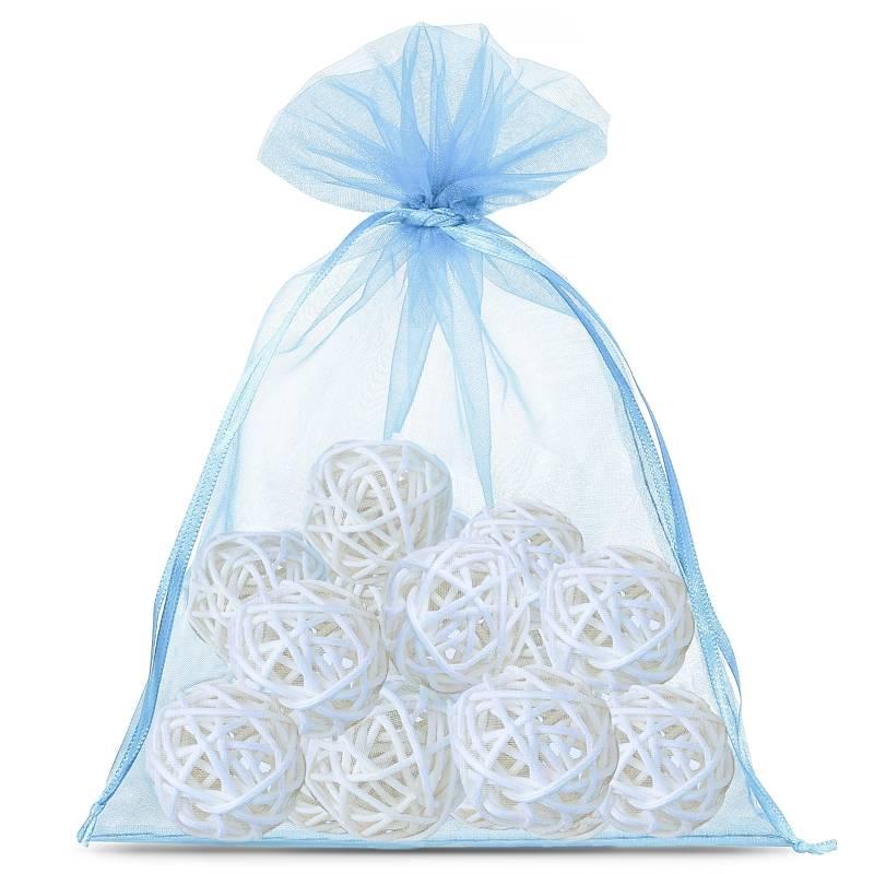 10 uds. Bolsas de organza 15 x 20 cm - azul claro Decorativo Bolsas de organza