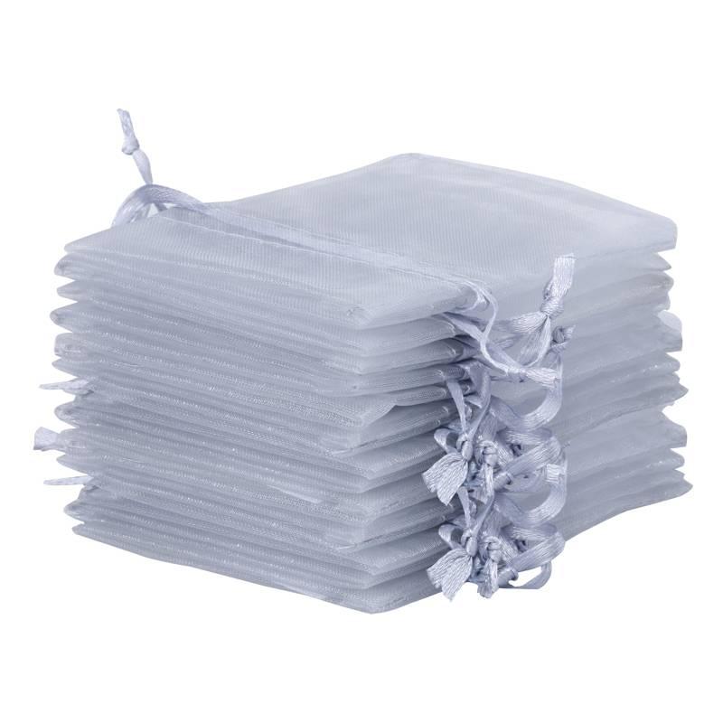 8686c4262 10 uds. Bolsas de organza 15 x 20 cm - gris plata | Bolsas-organza ...
