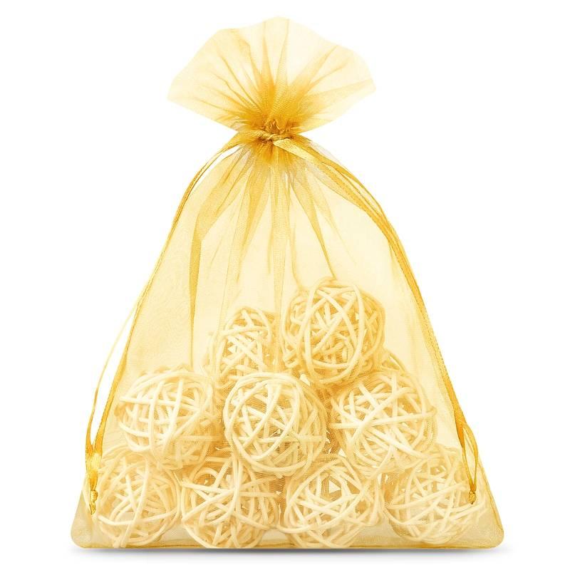 Organza bags 12 x 15 cm (25 pcs) - gold Decorativo Bolsas de organza