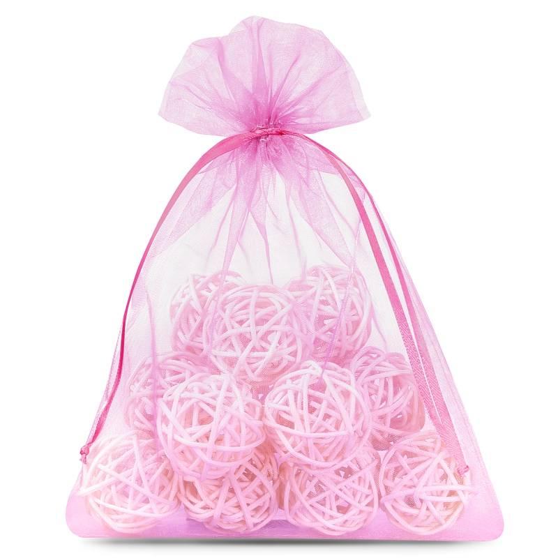 25 uds. Bolsas de organza 12 x 15 cm - rosa