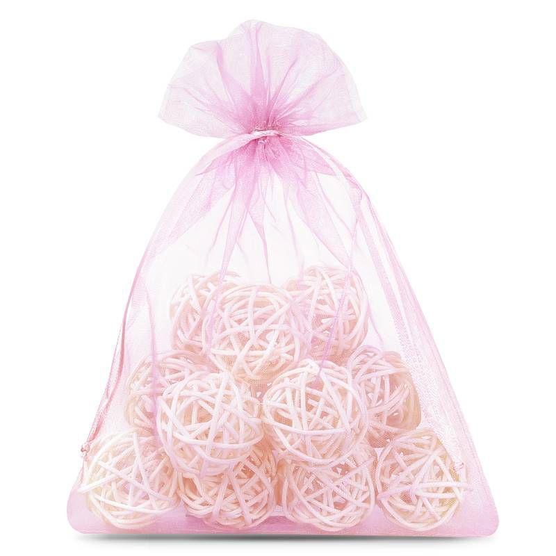 25 uds. Bolsas de organza 12 x 15 cm - rosa claro