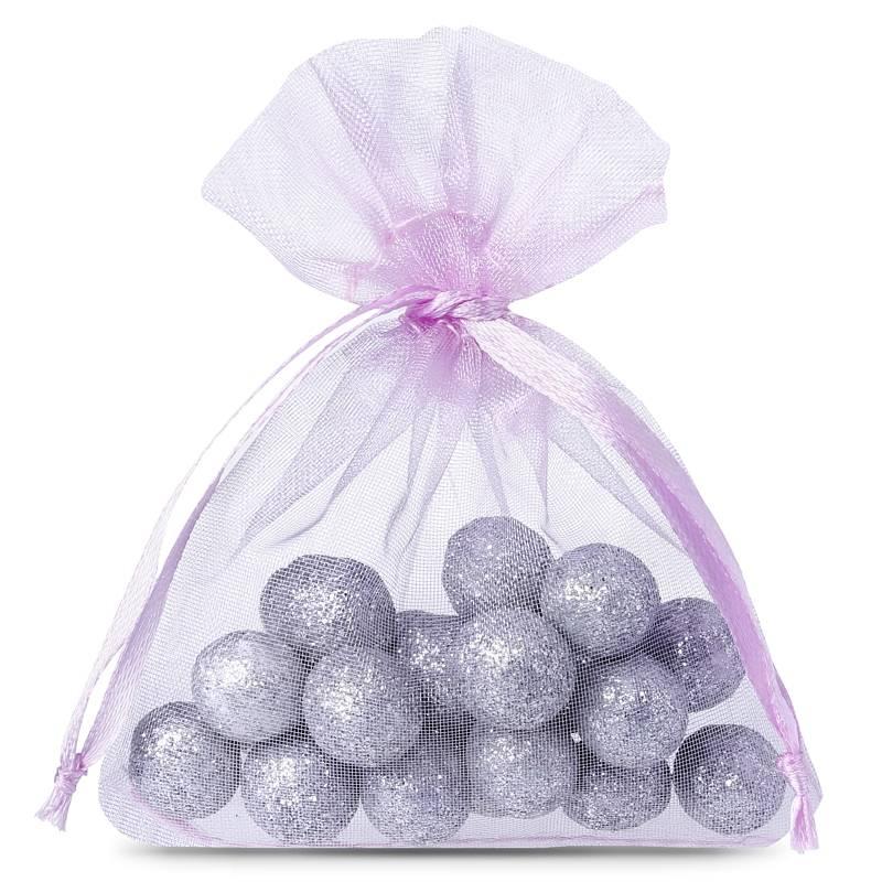 25 uds. Bolsas de organza 7 x 9 cm - violeta claro Decorativo Bolsas de organza