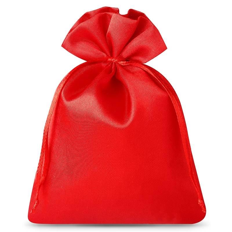 10 uds. Bolsas de satén 8 x 10 cm - rojo