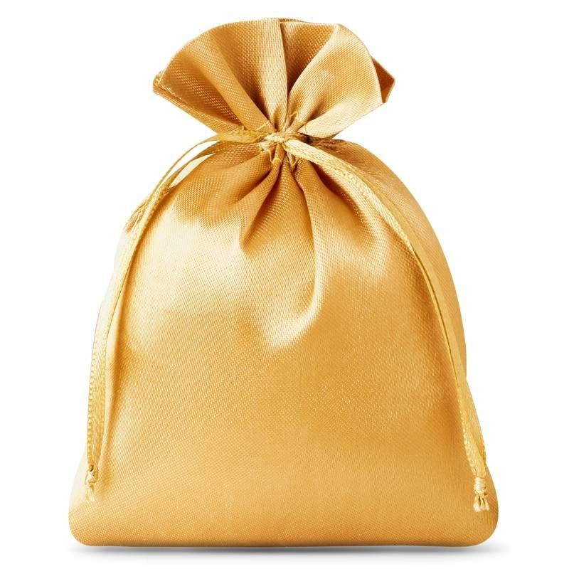 10 uds. Bolsas de satén 8 x 10 cm - dorado Bolsa de satén