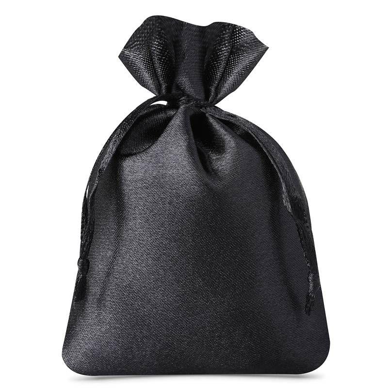 10 uds. Bolsas de satén 10 x 13 cm - negro