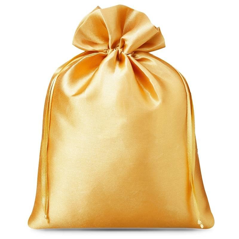 5 uds. Bolsas de satén 15 x 20 cm - dorado