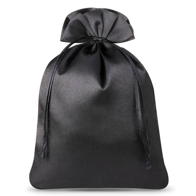 5 uds. Bolsas de satén 15 x 20 cm - negro