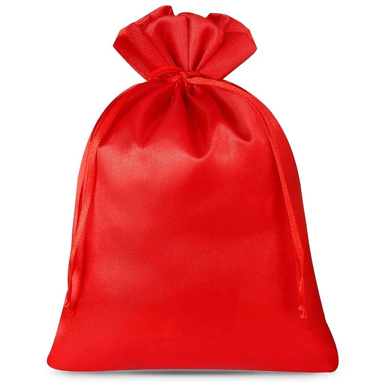 5 uds. Bolsas de satén 15 x 20 cm - rojo