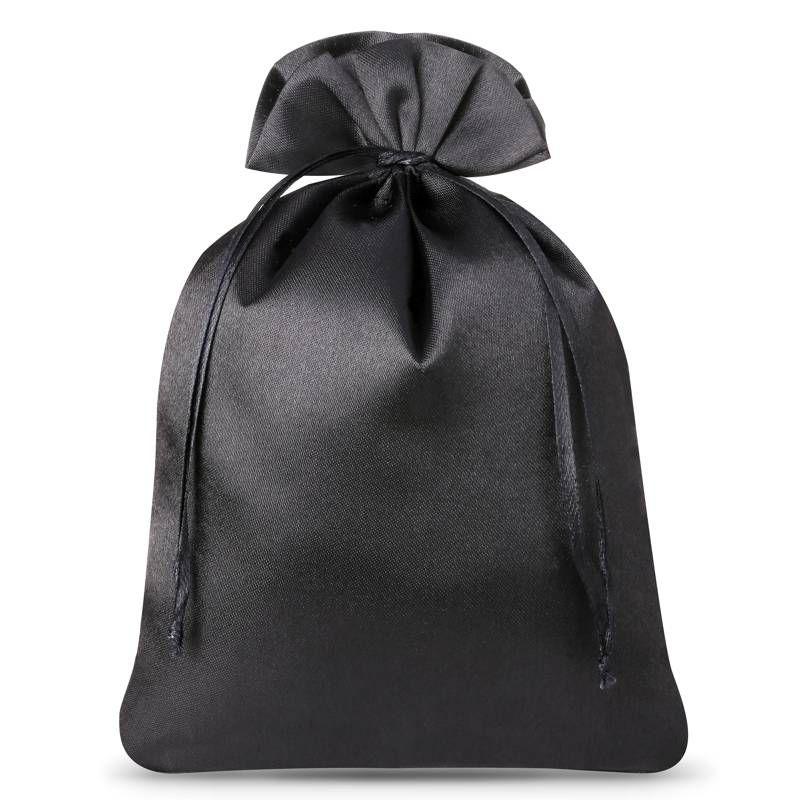 5 uds. Bolsas de satén 22 x 30 cm - negro