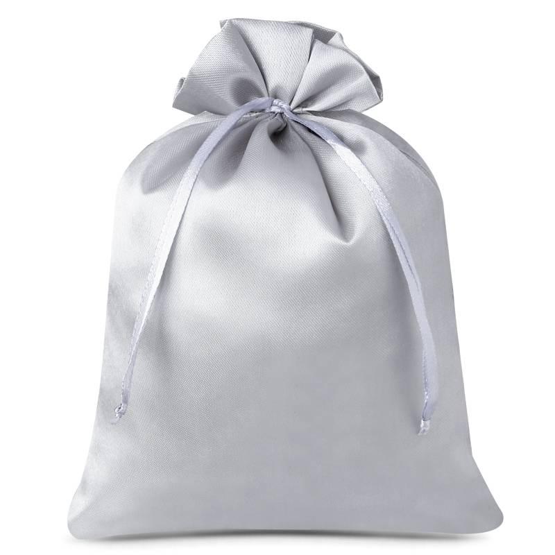 10 uds. Bolsas de satén 12 x 15 cm - gris plata