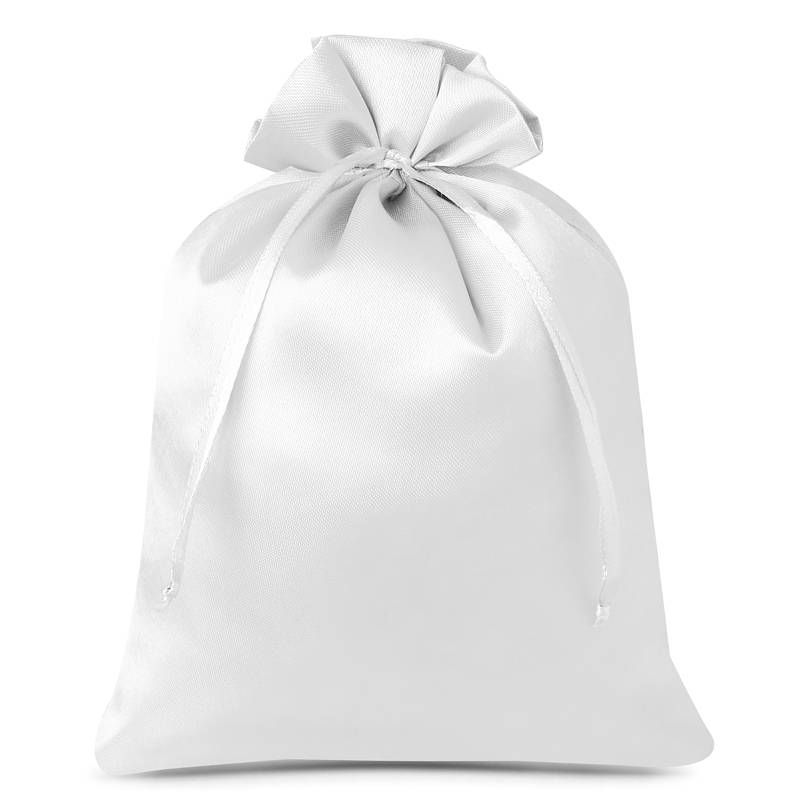 10 uds. Bolsas de satén 12 x 15 cm - blanco