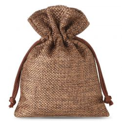 10 uds. Bolsas de yute 9 x 12 cm - natural oscuro bolsa de yute