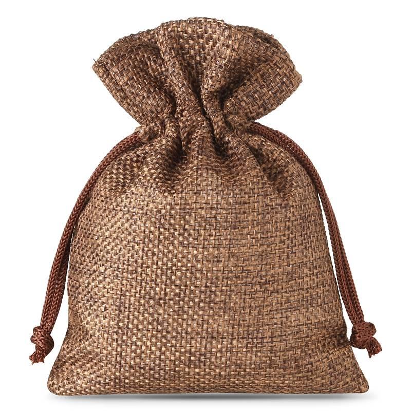 10 uds. Bolsas de yute 10 x 13 cm - natural oscuro bolsa de yute