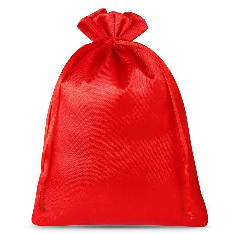 3 uds. Bolsas de satén 26 x 35 cm - rojo