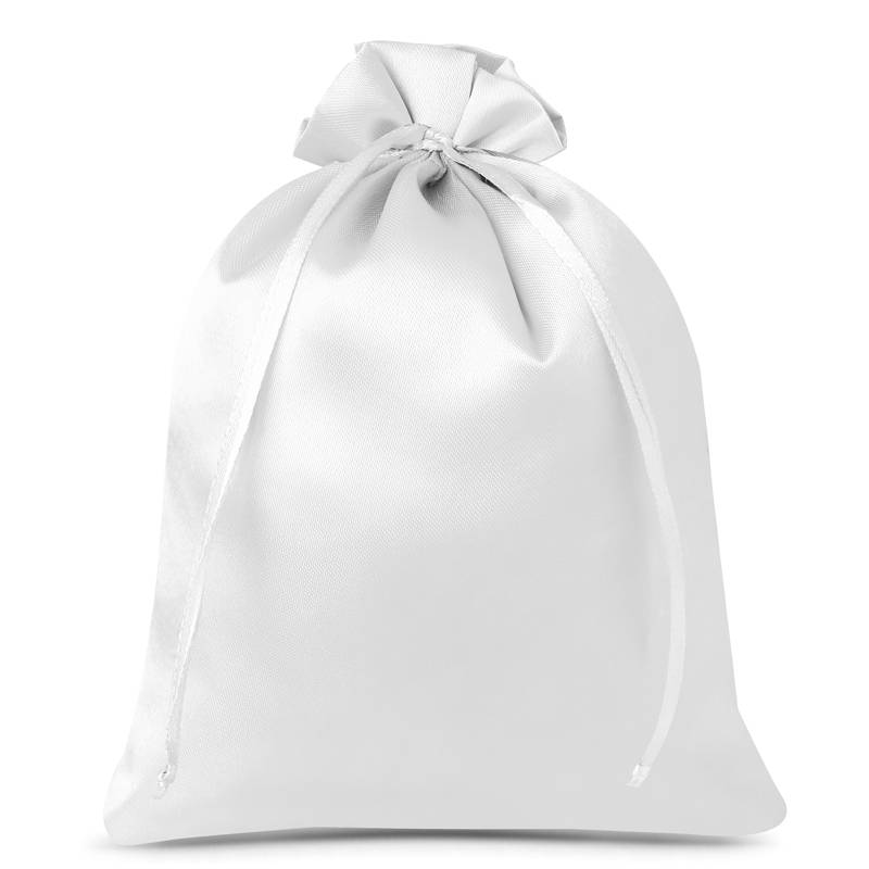 3 uds. Bolsas de satén 26 x 35 cm - blanco