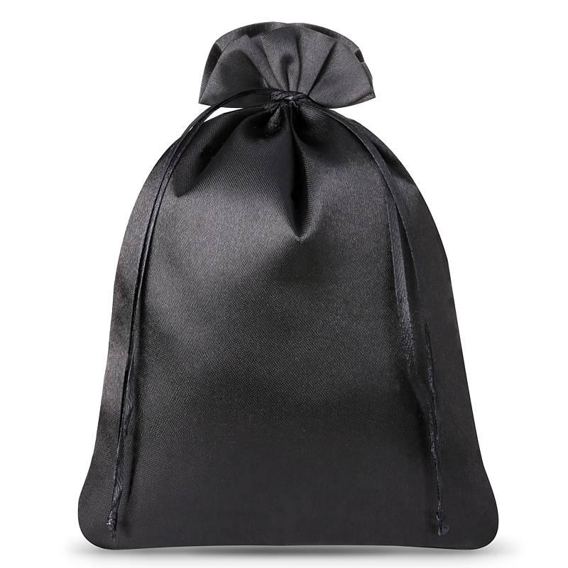 3 uds. Bolsas de satén 26 x 35 cm - negro