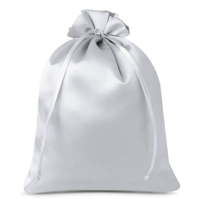 3 uds. Bolsas de satén 26 x 35 cm - gris plata
