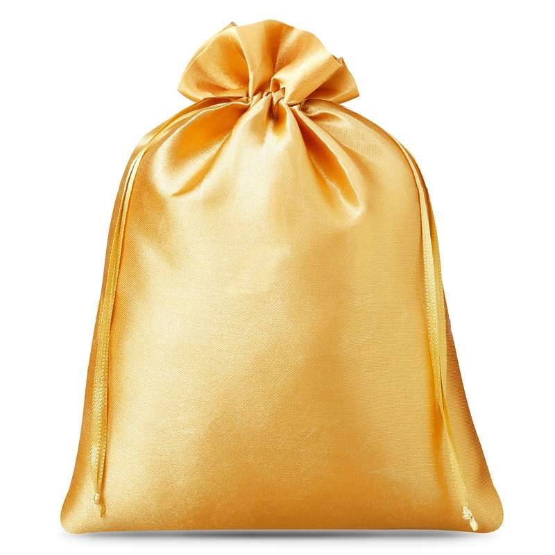 3 uds. Bolsas de satén 26 x 35 cm - dorado