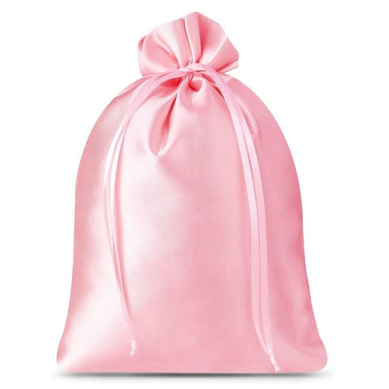 3 uds. Bolsas de satén 26 x 35 cm - rosa claro
