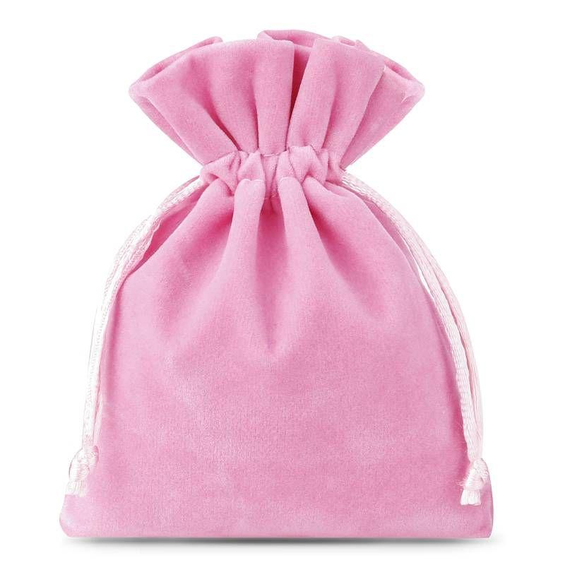 10 uds. Bolsas de terciopelo 8 x 10 cm - rosa claro