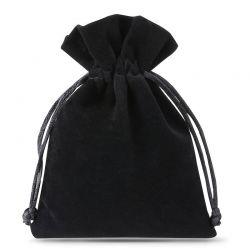10 uds. Bolsas de terciopelo 10 x 13 cm - negro Bolsas de terciopelo